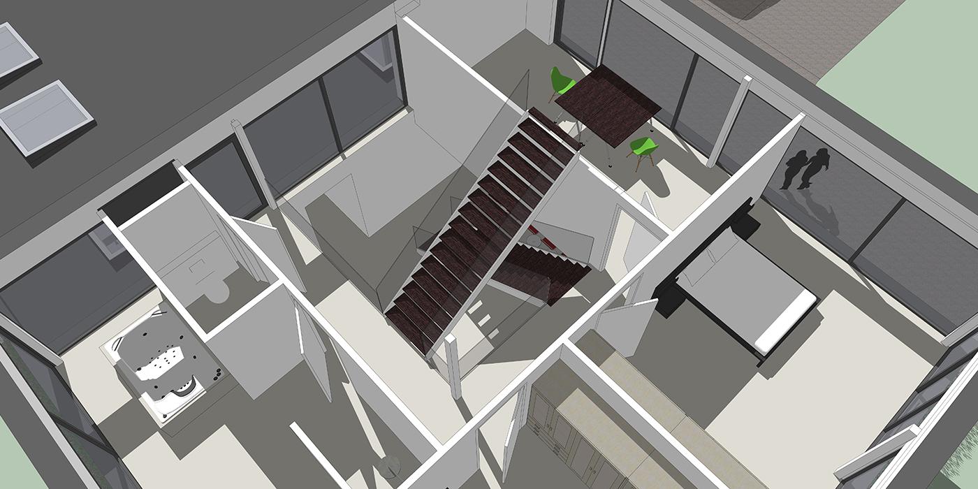 Eerste verdieping vide