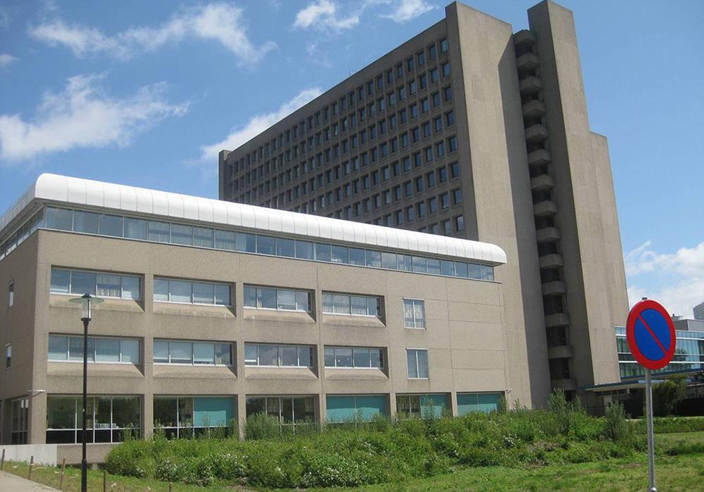 Foto van bestaand polikliniekgebouw A