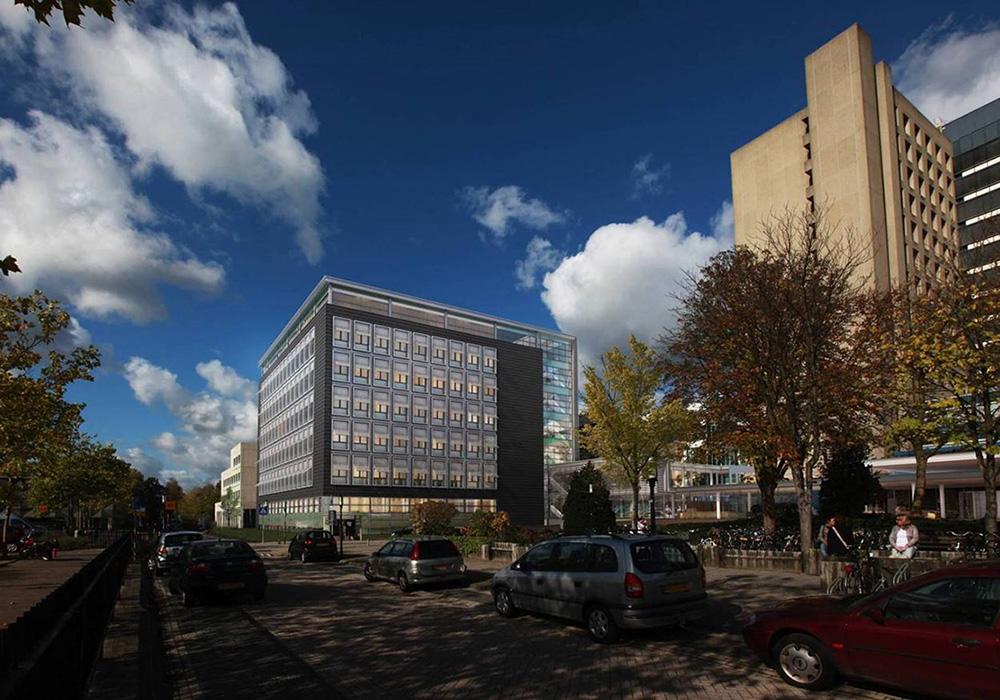Impressie voorzijde polikliniekgebouw