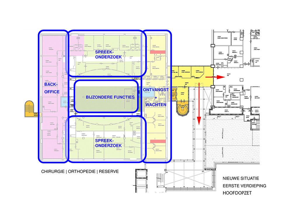 Plattegrond concept nieuwe indeling