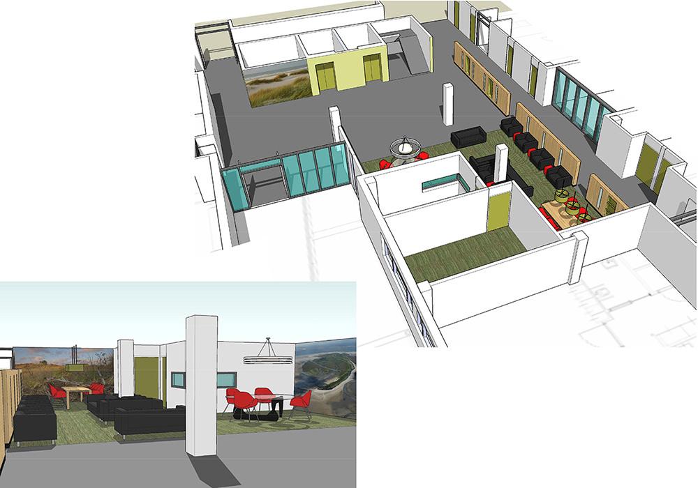 3D-model interieurontwerp