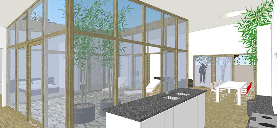 Patiowoning interieur keuken