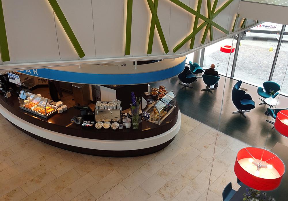 Interieur: espressobar van bovenaf