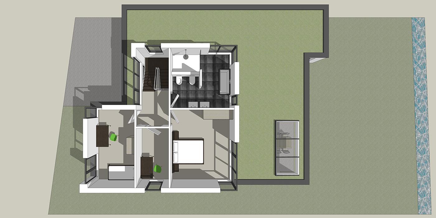 Bovenaanzicht eerste verdieping