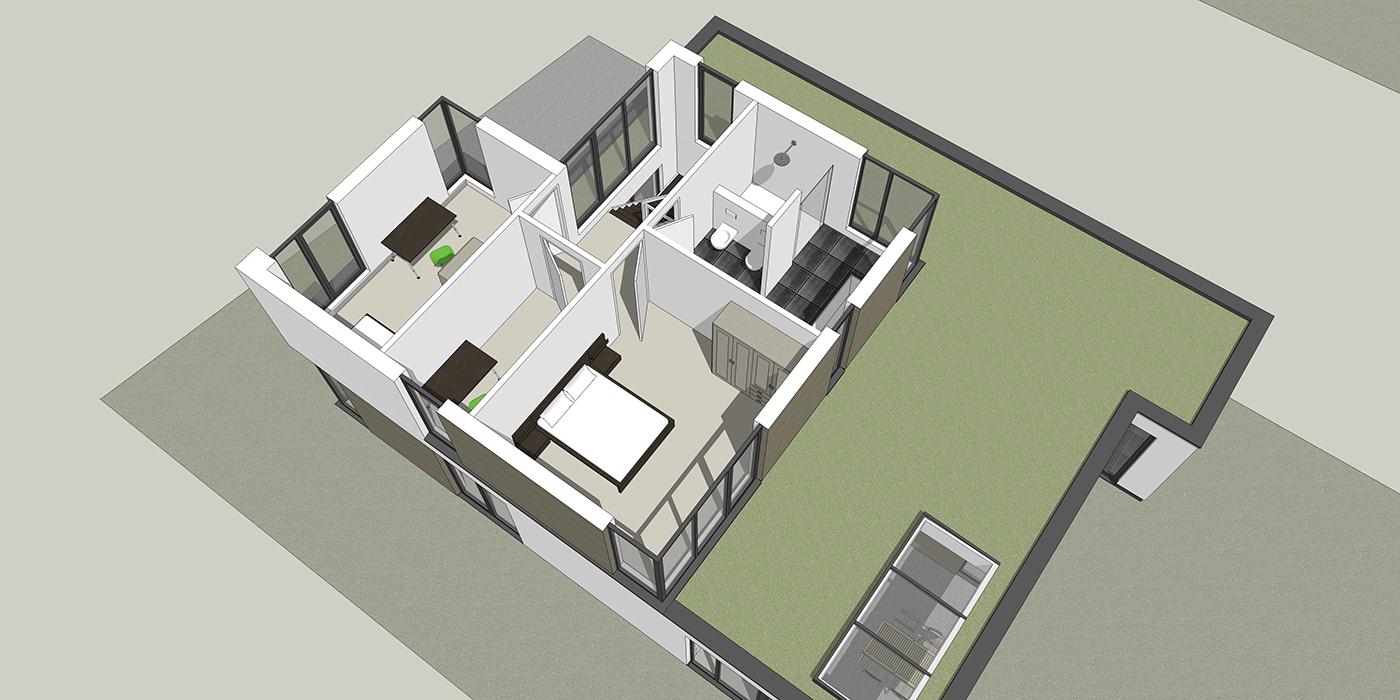 Overzicht eerste verdieping 1