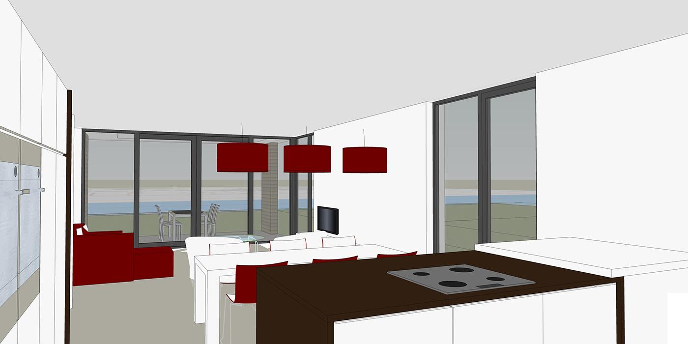Impressie interieur woonkamer 1