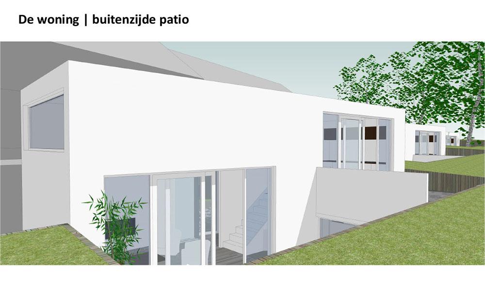 Woning buitenzijde patio