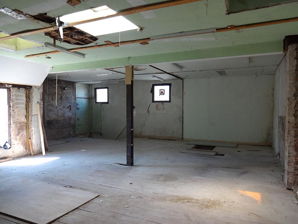 Binnenzijde eerste verdieping