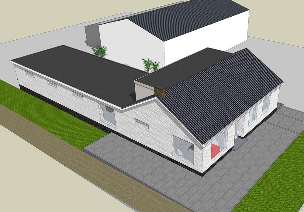 Woning met uitbreiding voorzijde