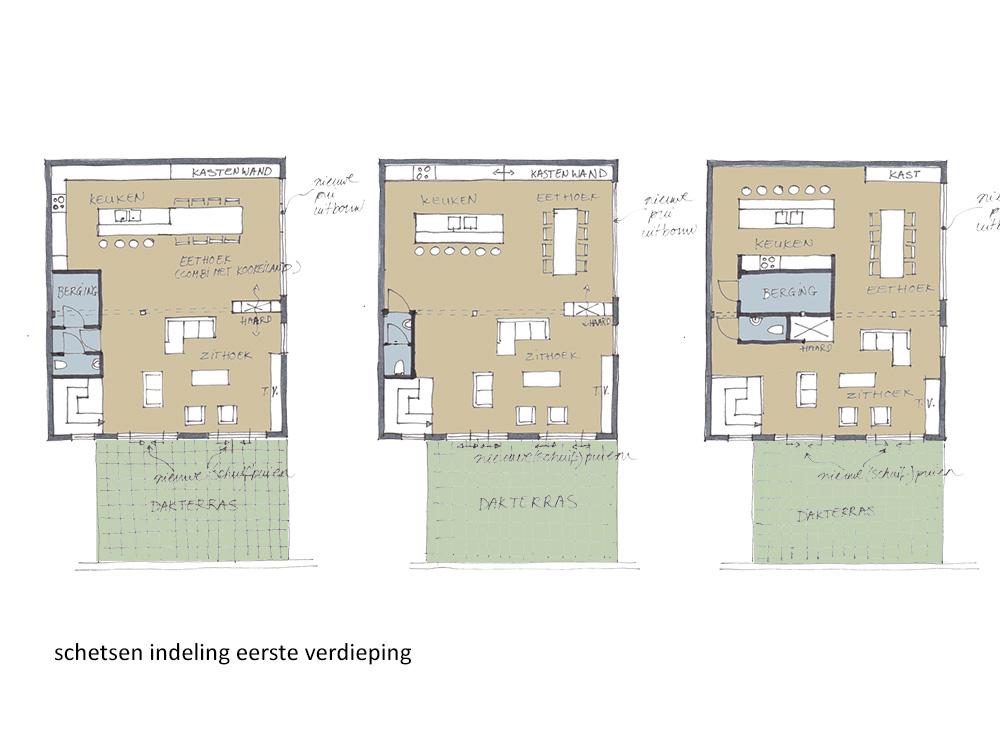 Schetsen indeling eerste verdieping