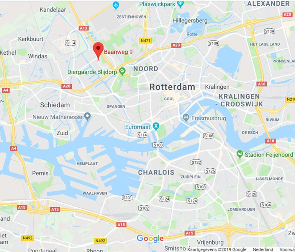 Ligging in Rotterdam
