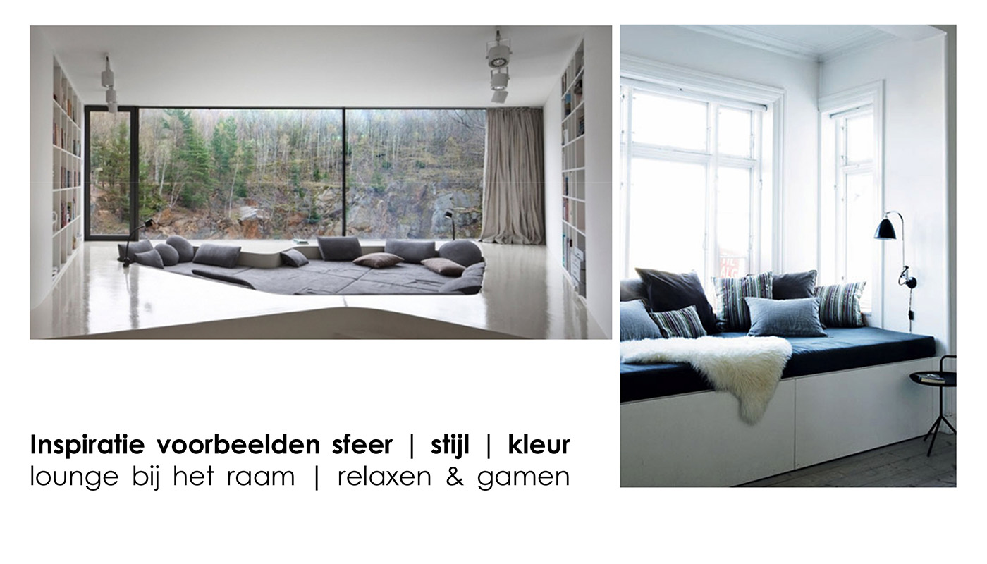 Sfeer, stijl, kleur: loungeplek