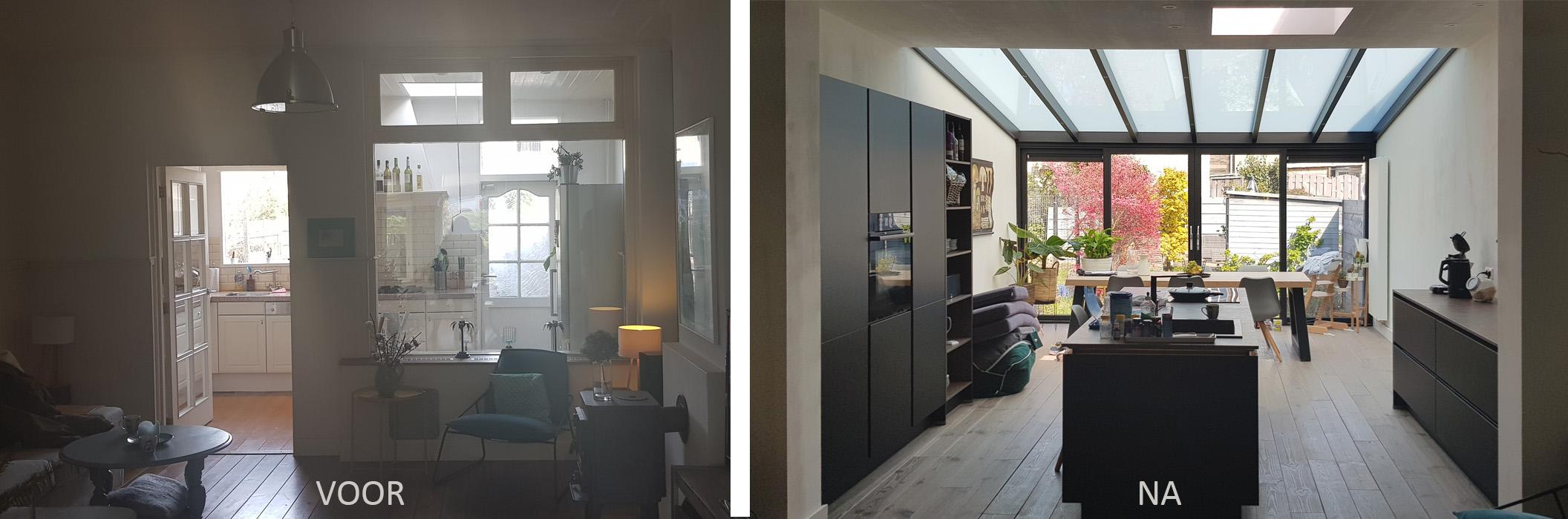 Aanbouw serre en verbouwing woning Rotterdam