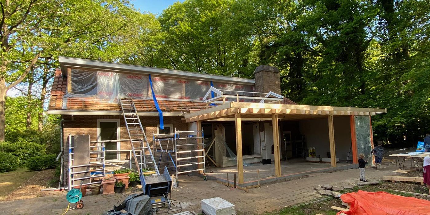 Aanbouw - houtconstructie 01