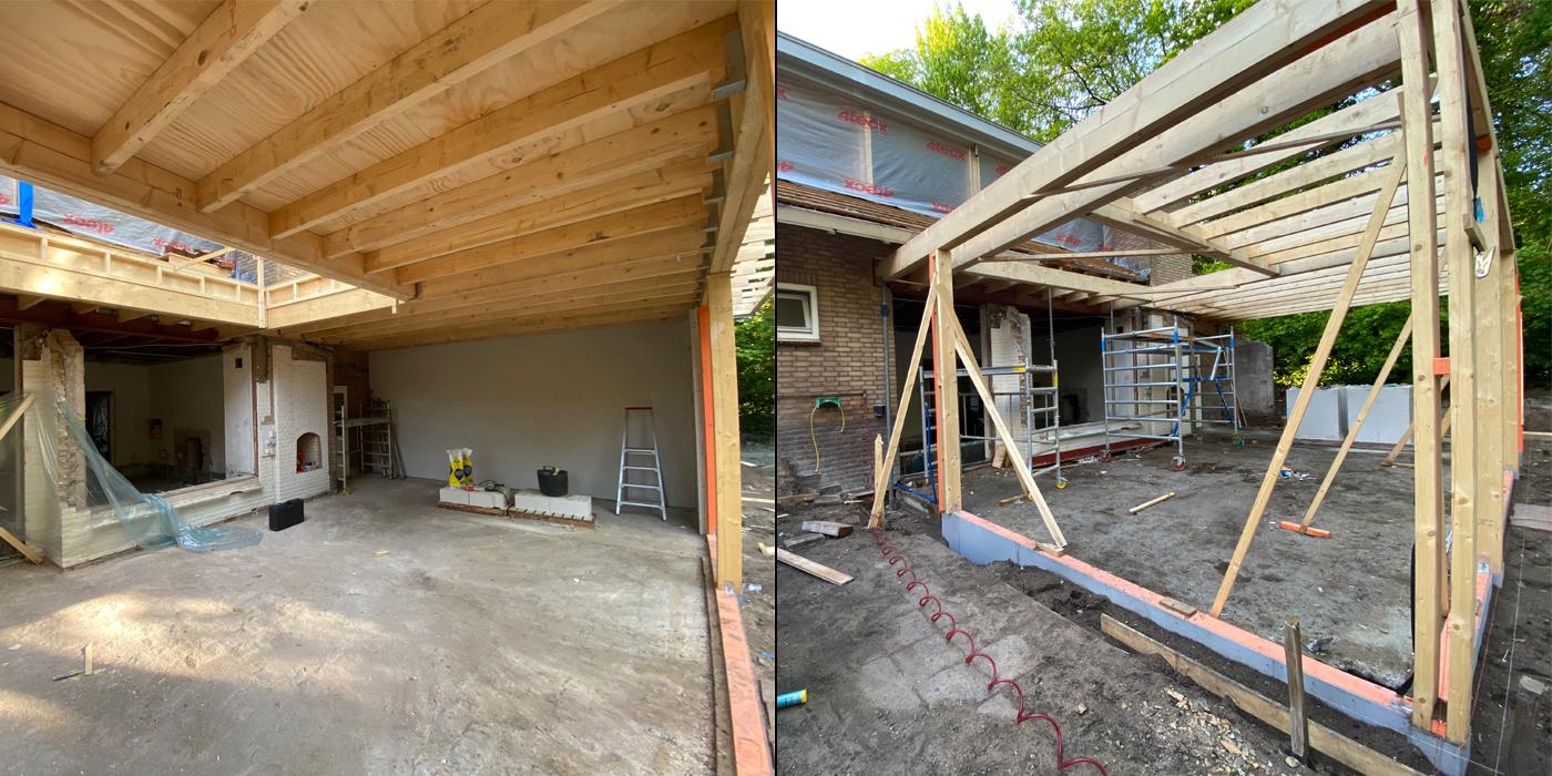 Aanbouw - houtconstructie 02